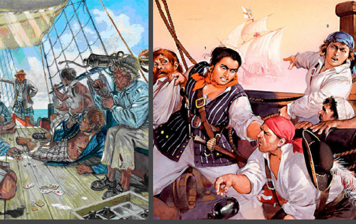Знаменитые пираты Карибского моря.