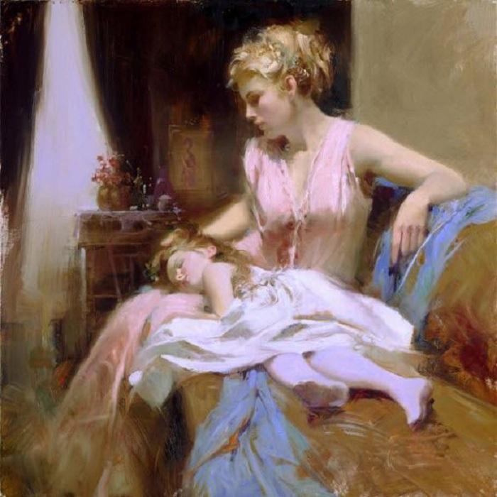 Романтическая живопись от Pino Daeni.